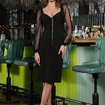 Вечернее черное платье