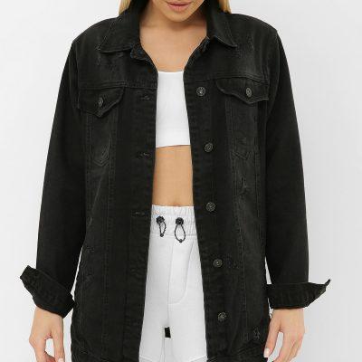 Джинсовая курточка черная